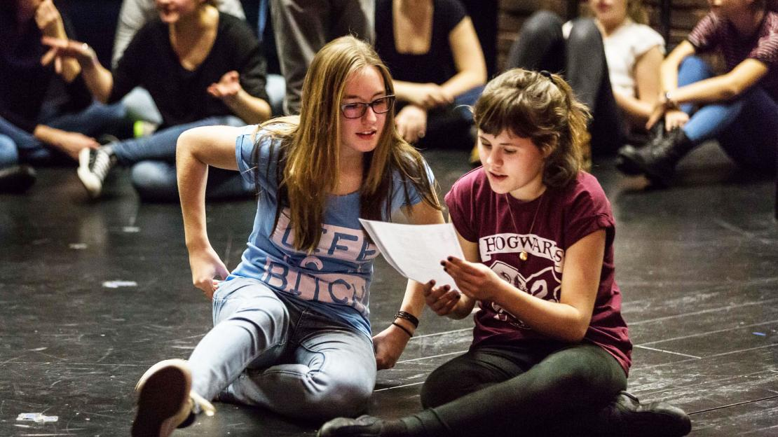 Workshop des English Theatre im stadtRAUMfrankfurt